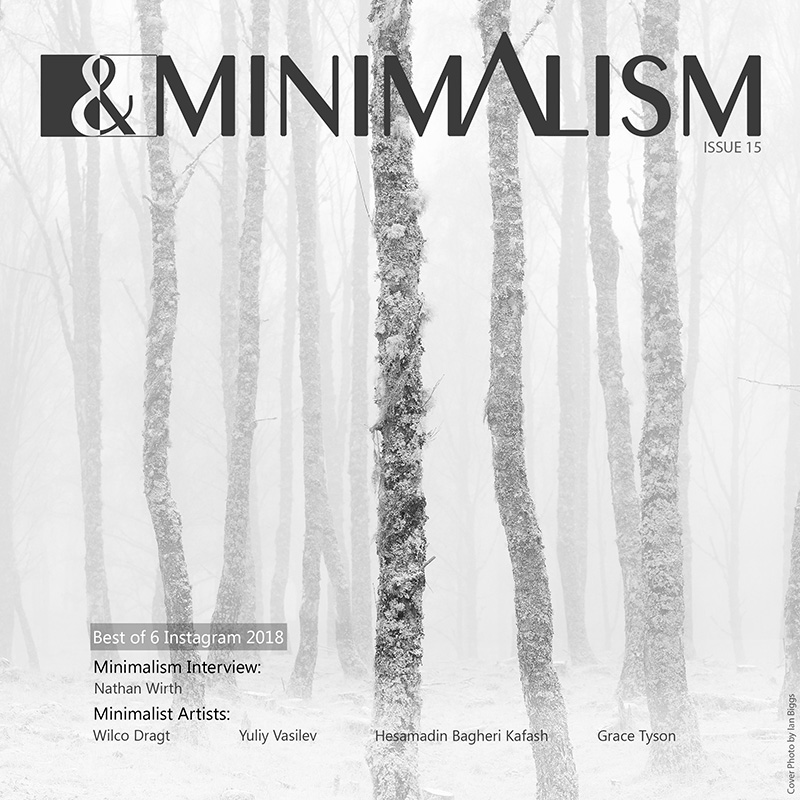 Black and white minimalism magazine issue 15