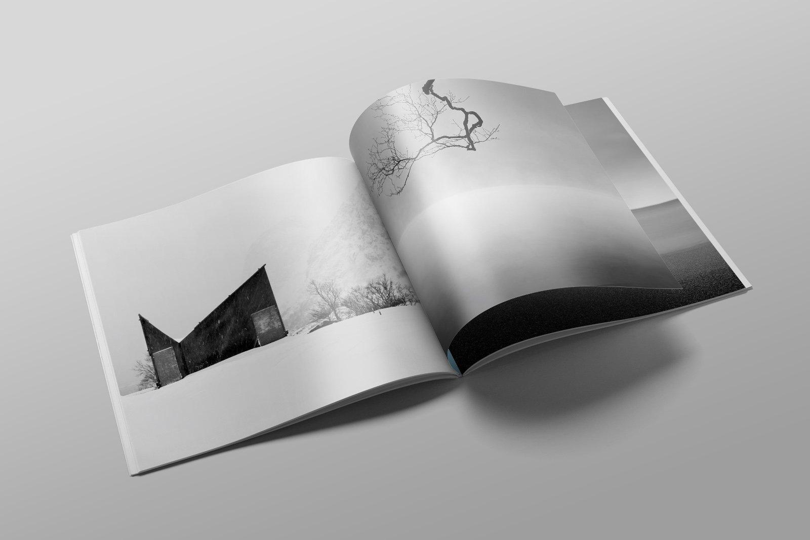 black and white minimalism magazine 30
